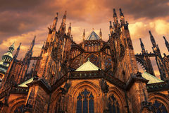 St. Vitus Cathedral in Prague. Royalty Free Stock Photo