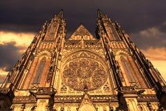 St. Vitus Cathedral in Prague, Czech Republic Stock Photos