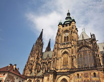 St Vitus cathedral in Prague. Czech Republic Royalty Free Stock Image