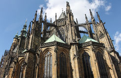 St. Vitus cathedral in Prague. Czech Republic Royalty Free Stock Photo