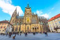 St. Vitus Cathedral in Prague, Czech Republic Royalty Free Stock Photo