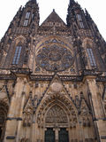 St.Vitus cathedral in Prague, Czech republic. St.Vitus cathedral with its soaring spires visible from all over Prague is one of the most beautiful cathedrals in Stock Images