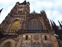 St Vitus cathedral in Prague, Czech republic. St. Vitus Cathedral is the largest and the most important church in Prague, one of the most beautiful cathedrals in Stock Image
