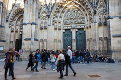 St. vitus cathedral in prague czech republic Royalty Free Stock Image