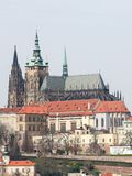 St Vitus Cathedral in Prague, Czech Republic. View on St Vitus Cathedral in the historic center of Prague, Czech Republic, from the roof of the Clementinum stock image