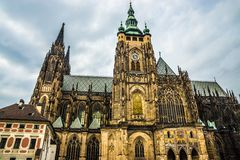 St Vitus Cathedral Prague, repubblica Ceca. Immagini Stock Libere da Diritti