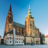 St Vitus Cathedral Prague, repubblica Ceca Immagini Stock