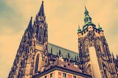 St Vitus Cathedral Prague, repubblica Ceca immagine stock libera da diritti
