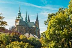 St Vitus Cathedral Prague, République Tchèque Photos libres de droits