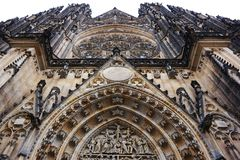 St Vitus cathedral in Prague. As symbol of tourism royalty free stock photography