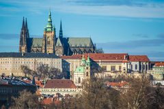 St. Vitus Cathedral in Prague. In Prague very good weather Royalty Free Stock Photo