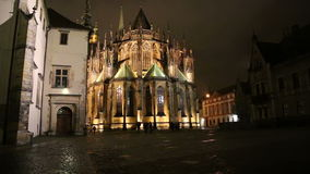 St. Vitus Cathedral (Roman Catholic cathedral ) in Prague Castle, Czech Republic stock footage