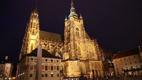 St. Vitus Cathedral (Roman Catholic cathedral ) in Prague Castle, Czech Republic stock video