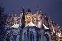 St. Vitus Cathedral (Roman Catholic cathedral ) in Prague Castle Stock Photography