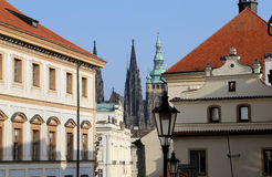 St. Vitus Cathedral (Roman Catholic cathedral ) in Prague Castle and Hradcany, Czech Republic Royalty Free Stock Image