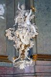 Sculpture in the interior in St. Vitus Cathedral Royalty Free Stock Images