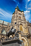 St. Vitus Cathedral and Saint George statue, Prague Stock Photo