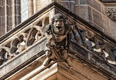 St. Vitus Cathedral. A sculpture of a St. Vitus Cathedral Stock Photography