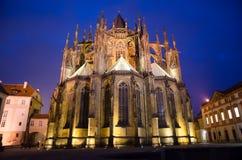 St Vitus Cathedral (svatého VÃta della La del ¡ di KatedrÃ) Fotografie Stock Libere da Diritti