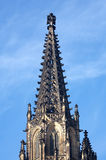 St.Vitus cathedral. Tower of St.Vitus cathedral in Prague. Czech republic royalty free stock photo