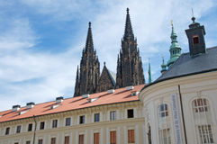 St. Vitus Cathedral and Treasury in Prague Castle Royalty Free Stock Image