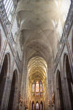 St. Vitus cathedral. View of the inside of Saint Vitus cathedral in Prague, CZECH REPUBLIC Royalty Free Stock Photo