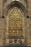 St. Vitus cathedral window Royalty Free Stock Image