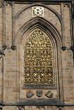 St. Vitus Chatedrale. Decoration on St. Vitus Metroploital Chatedral in Prague, Czech Republic stock photos