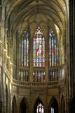 St. Vitus Chatedrale. Interior of St. Vitus Metroploital Chatedral in Prague, Czech Republic stock photography