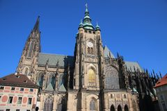 St. Vitus Chatedrale. St. Vitus Metroploital Chatedral in Prague, Czech Republic stock photography