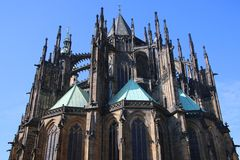 St. Vitus Chatedrale. St. Vitus Metroploital Chatedral in Prague, Czech Republic royalty free stock image