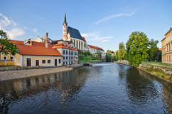 St. Vitus Church in Cesky Krumlov, Czech Republic Stock Photography