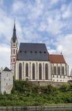 St Vitus Church, Cesky Krumlov, repubblica Ceca Fotografie Stock Libere da Diritti