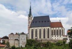St Vitus Church, Cesky Krumlov, repubblica Ceca Immagini Stock Libere da Diritti