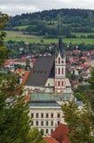 St Vitus Church, Cesky Krumlov, repubblica Ceca Fotografia Stock