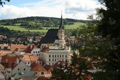 St Vitus Church dans Cesky-Krumlov Photographie stock libre de droits