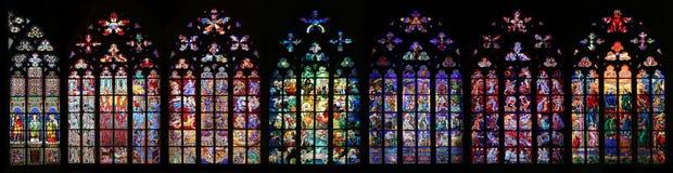 St Vitus Gebrandschilderd glas Royalty-vrije Stock Afbeeldingen