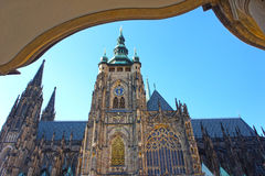 St. Vitus gothic cathedral in Prague, Czech Republic. Royalty Free Stock Photos