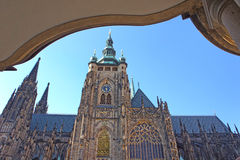 St. Vitus gothic cathedral in Prague, Czech Republic. Royalty Free Stock Photo