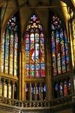 St.Vitus het binnenland van de Kathedraal stock afbeeldingen