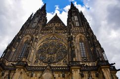 St Vitus Katedralny gothic kościół w Praga obraz royalty free