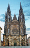 St Vitus kathedraal in het Kasteel van Praag in Praag Stock Foto's