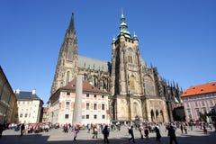 St. Vitus Kathedraal in Praag Stock Foto