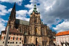 St.Vitus Kathedraal in Praag Stock Afbeelding
