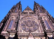 St Vitus kathedraal, Praag stock afbeelding