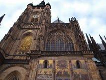 St Vitus kathedraal in Praag, Tsjechische republiek Stock Afbeelding