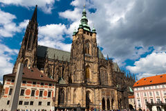 St.Vitus Kathedrale in Prag Stockbild