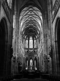 St. Vitus - Prague Castle. St. Vitus Cathedral - black & white harmony Royalty Free Stock Image
