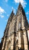St Vitus - Prague slott Royaltyfria Foton