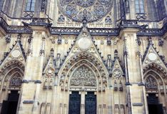 St. Vitus's Cathedral Main Entrance Stock Photography